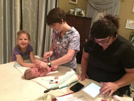 Home birth newborn exam with Desirre Andrews & Tiffany Miller